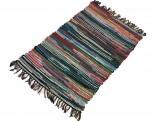 Teppich Baumwolle Blau/Bunt 60x90cm