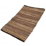 Teppich Leder Dunkelbraun 60x90cm