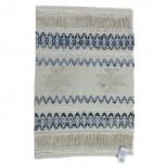 Teppich Baumwolle Denim/Weiß 60x90xm
