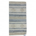 Teppich Baumwolle Denim/Weiß 70x140cm