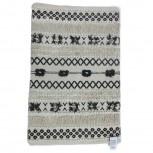 Teppich Baumwolle Schwarz/Weiß 60x90cm