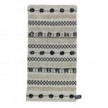 Teppich Baumwolle Schwarz/Weiß 70x140cm
