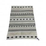 Teppich Baumwolle Schwarz/Weiß 140x200cm