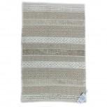 Teppich Baumwolle Beige/Weiß 60x90cm