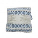 Kissen Baumwolle/Jute Denim/Weiß 45x45cm
