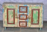 Sideboard, 2 Türen, 3 Schubladen, Bunt
