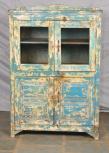 Schrank, 4 Türen, Blau