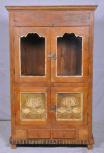 Schrank, 4 Türen, 2 Schubladen, Natur/Braun