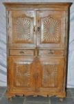 Schrank, 4 Türen, 2 Schubladen, Natur