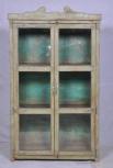 Schrank, 2 Türen, Grün-Blau